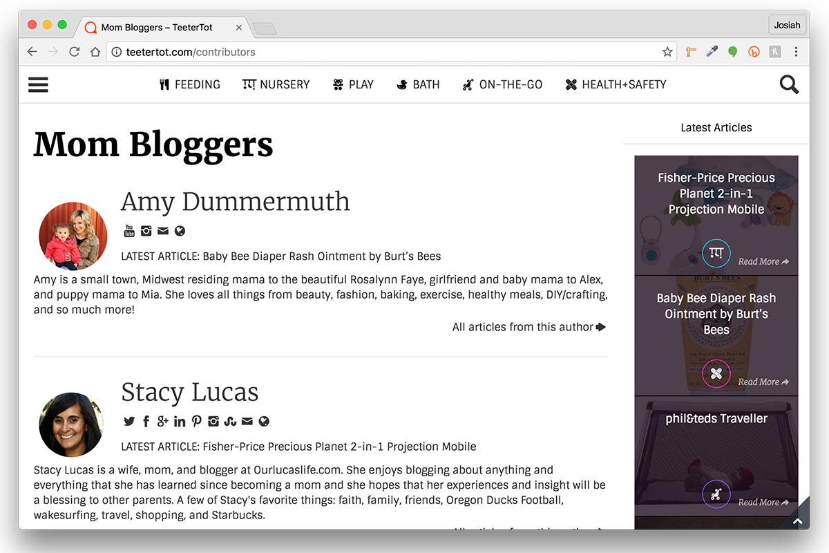 Blog Post Example – Website Contributors