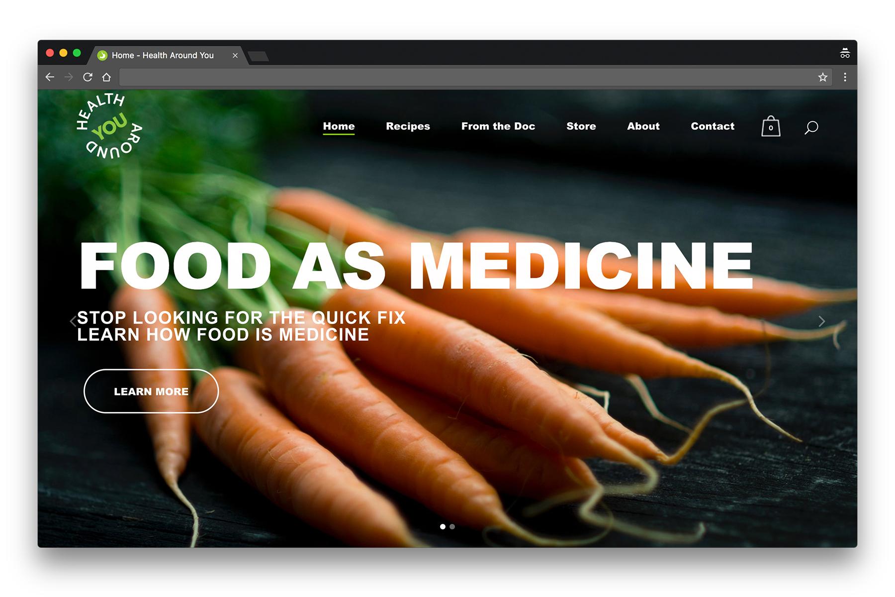 HealthAroundYou-WebsiteDesignProject-HomePage