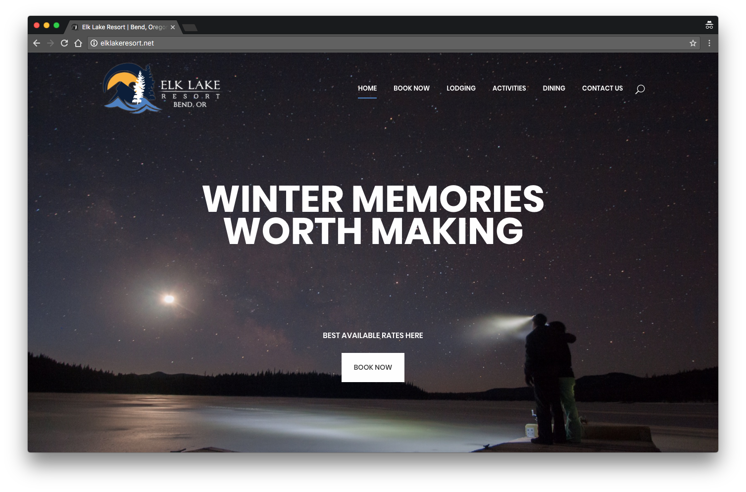 Elk Lake Resort Website Design by Josiah Dawley